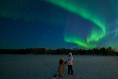 Proposta di matrimonio in Lapponia - Aurora Boreale